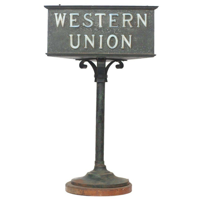 Rustic Western Union Countertop Lamp - Image 3 of 8