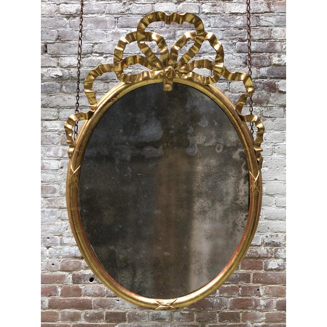 19th Century Oval Mirror For Sale - Image 9 of 9