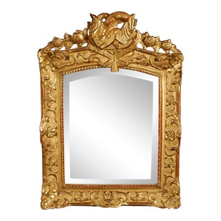 Antique French Regency Period Giltwood Wall Mirror