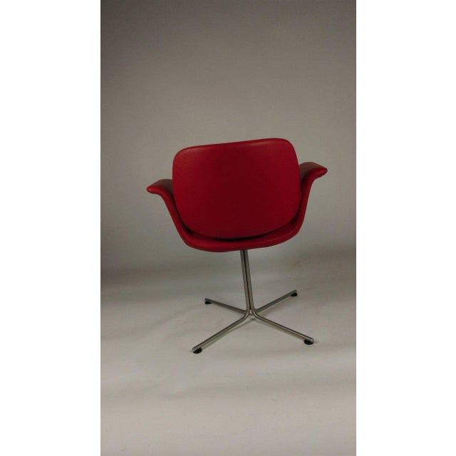Foersom & Hjorth-Lorenzen Red Leather Flamingo Armchair For Sale In Madison - Image 6 of 8
