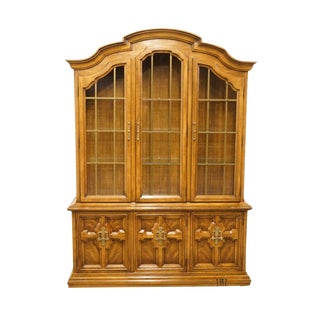 "Drexel Talavera Collection Spanish Revival 59"" China Cabinet For Sale"