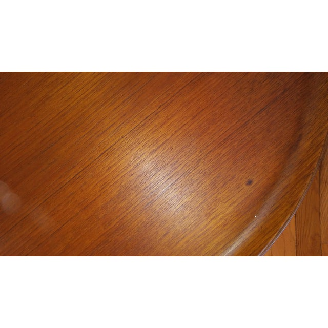 Fritz Hansen Teak Tray Table For Sale - Image 9 of 11