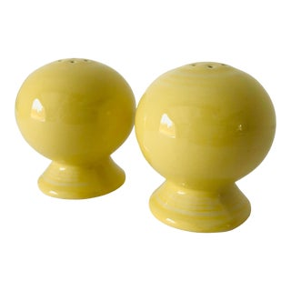 Fiesta Ware Yellow Salt & Pepper Shakers - a Pair For Sale