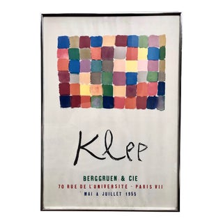 Vintage Paul Klee French Exhibit Gallery Poster For Sale