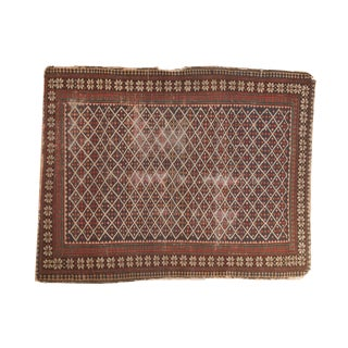 """Antique Shirvan Square Rug - 3' x 3'10"""" For Sale"""