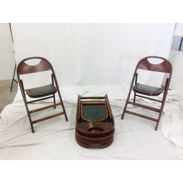 Vintage Bentwood Folding Chairs - Set of 6 For Sale - Image 10 of 11