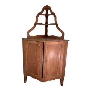 Antique Italian Corner Cabinet For Sale