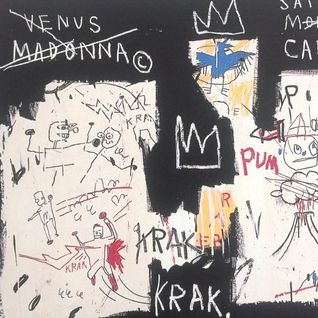 "Black Jean Michel Basquiat Original Pop Art Lithograph Print ""Panel of Experts"", 1982 For Sale - Image 8 of 11"