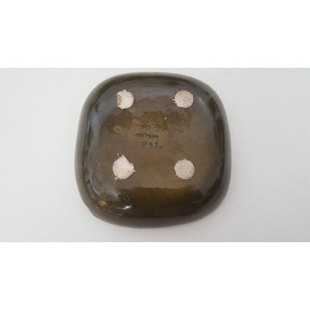 Mid Century Italian Aldo Londi Raymor Fused Glass Pottery Ashtray For Sale In Charlotte - Image 6 of 8