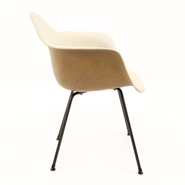 Plastic Eames for Herman Miller Mid Century Molded Plastic X-Base Shell Chairs - a Pair For Sale - Image 7 of 11