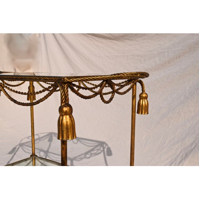 Italian Gilt Bar Cart For Sale - Image 9 of 11