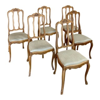 Early 20th Century Antique Country French Chairs- Set of 6 For Sale