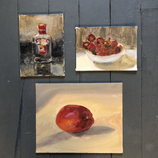 Original Contemporary Impressionist Still Life Study Paintings 3 Gallery Wall Collection For Sale In Philadelphia - Image 6 of 6