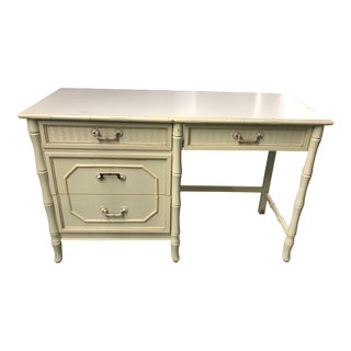 Vintage Broyhill Faux Bamboo Desk