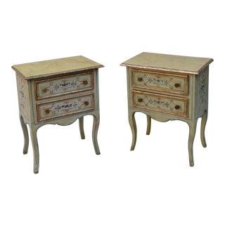 Antique Venetian Bedside Nightstands - A Pair