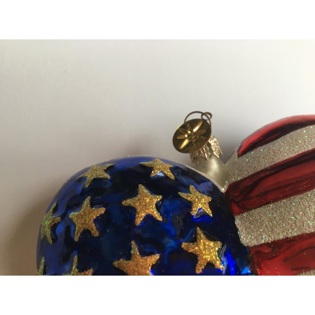 """Large 5"""" x 5"""" Brave Heart Ornament. Commemorating September 11th, 2001. Benefited The American Red Cross 2001. Retired..."""