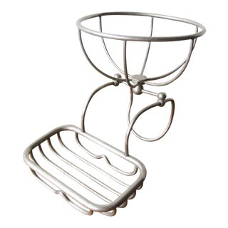 20th Century English Traditional Steel Bathtub Caddy For Sale