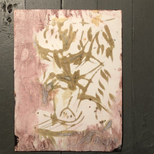 Original Vintage Peter Duncan Nude Abstract Encaustic Painting For Sale - Image 4 of 5
