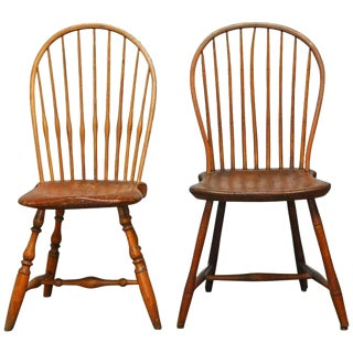American Bow-Back Windsor Chairs - A Pair For Sale