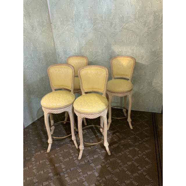 Twist Frame Barstools-Set of 4 For Sale - Image 4 of 4
