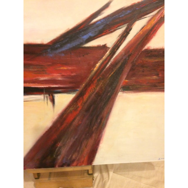 Vintage Modernist Abstract Oil on Canvas - Image 3 of 5