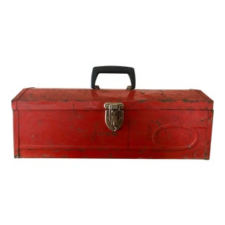 Vintage Red Tool Box For Sale