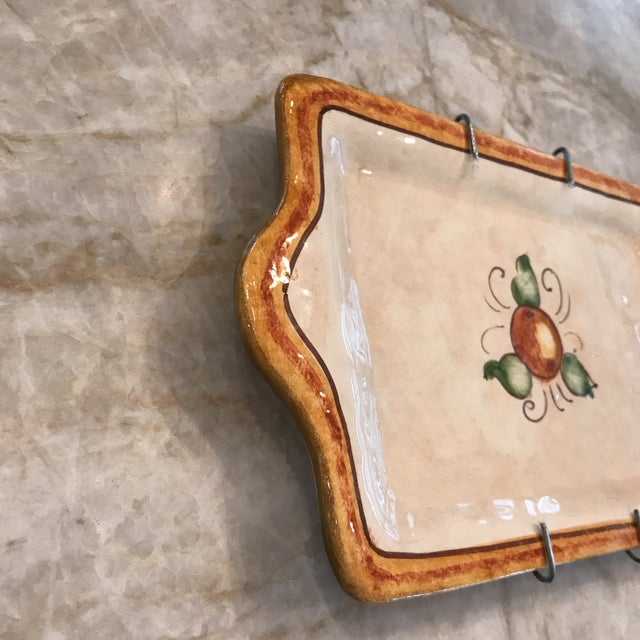 Country Authentic Vietri Fruit Plate For Sale - Image 3 of 8