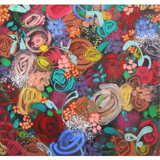 """Sally K """"Bloom I"""" Original Painting For Sale"""