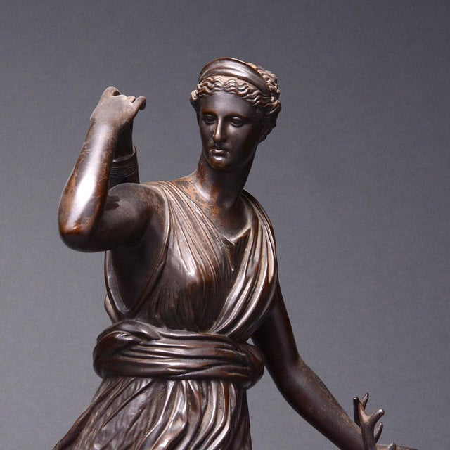 15th Century & Earlier Bronze Sculpture of the Versaille Diana For Sale - Image 5 of 7