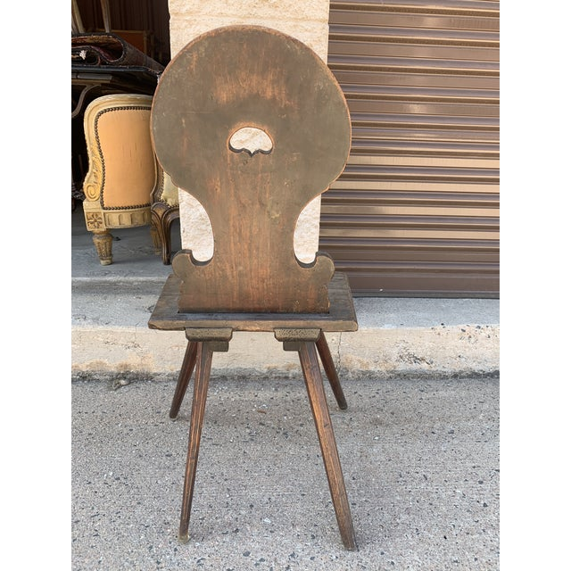 Wood 18th Century Bavarian Wooden Chair For Sale - Image 7 of 13