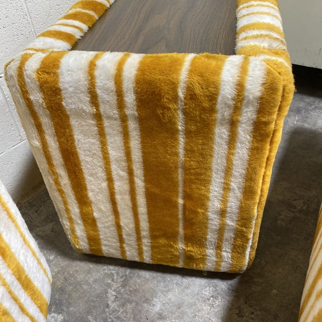 Gold Groovy 70s Carpeted Tables Bench Set - a Set of 3 For Sale - Image 8 of 12