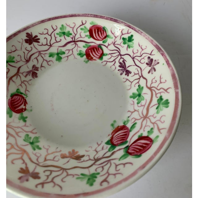 Ceramic Antique English Lustreware Berry Motif Trinket Dish For Sale - Image 7 of 10