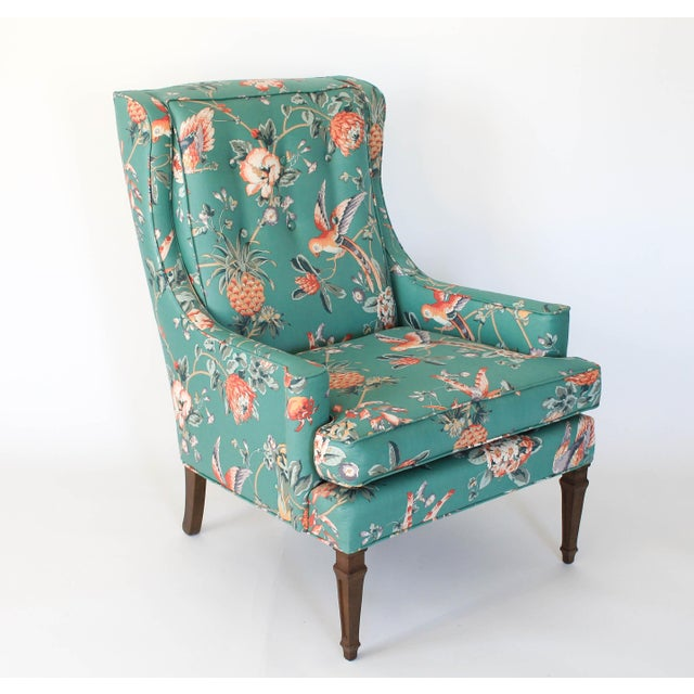 Boho Chic Mid-Century Chair and Ottoman For Sale - Image 3 of 10