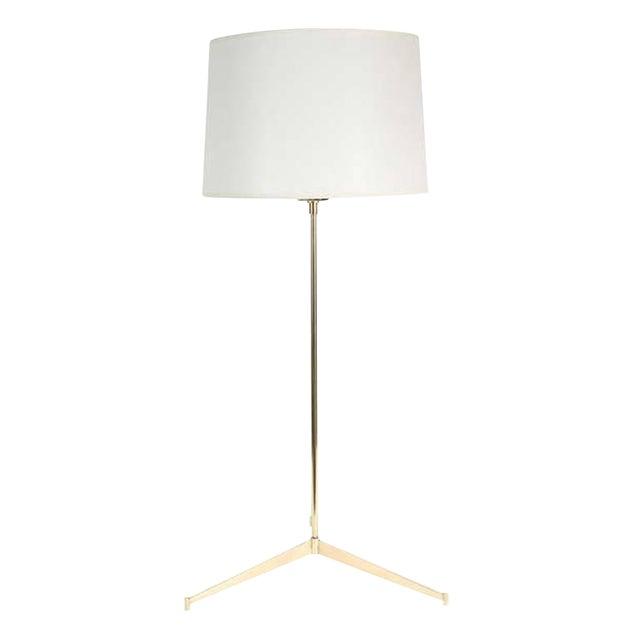 Customizable Roy Brass Tripod Table Lamp - Image 1 of 5