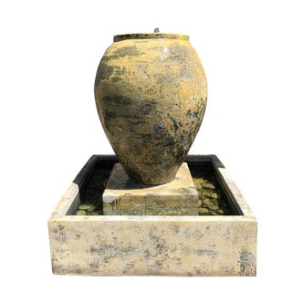 Earth Ware Pottery Urn Fountain For Sale