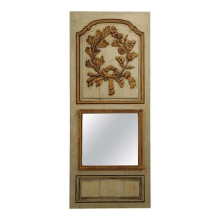 Early 19th Century French Painted and Gilt Trumeau Mirror For Sale