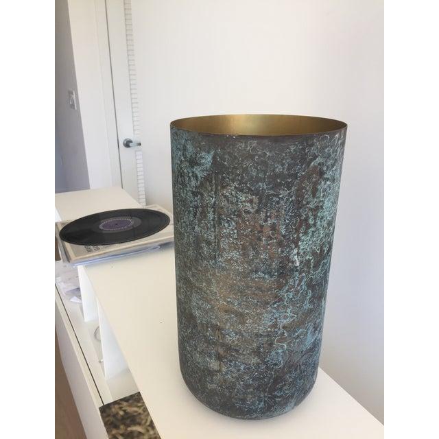 Metal BoConcept New Oxidized Vases - Metal For Sale - Image 7 of 7