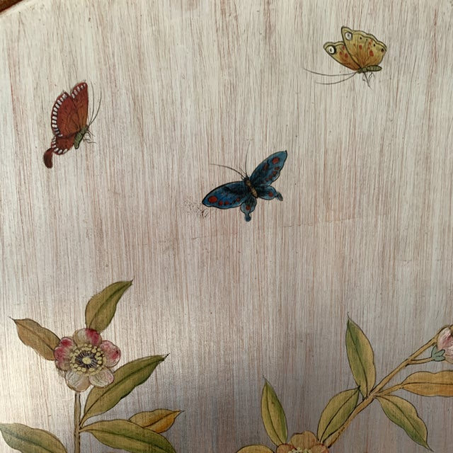 Asian Hand Painted Chinoiserie Wall Panels- a Pair For Sale - Image 3 of 13
