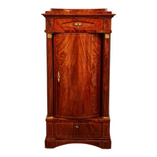 19th Century Danish Mahogany Empire Cabinet For Sale