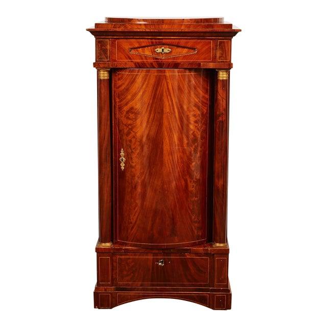 19th Century Danish Mahogany Empire Cabinet For Sale