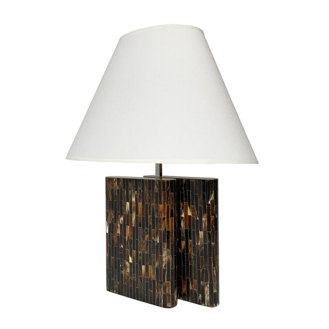 Enrique Garcel Tessellated Horn Table Lamp For Sale - Image 13 of 13