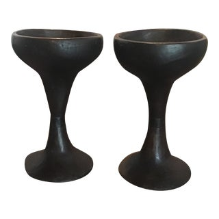Vintage Offering Vessels - a Pair For Sale