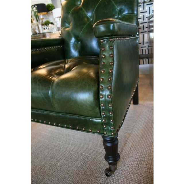 Cisco Brothers Gallant Green Chair For Sale In New York - Image 6 of 7