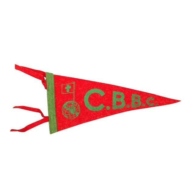 Vintage CBBC Felt Flag For Sale