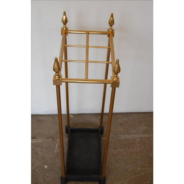 French Brass & Iron Umbrella Stand - Image 9 of 9