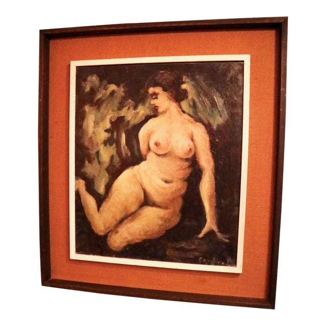 """""""Nude"""" Oil on Canvas Painting For Sale"""