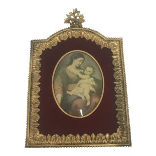 Antique French Gilded Bronze Frame