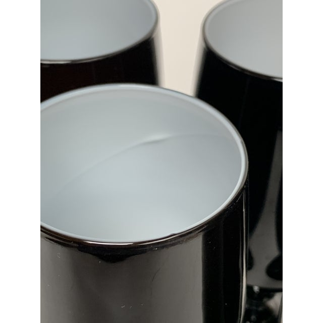 Black 1960s Carlo Moretti Black and White Cased Glass Goblets - Set of 10 For Sale - Image 8 of 12