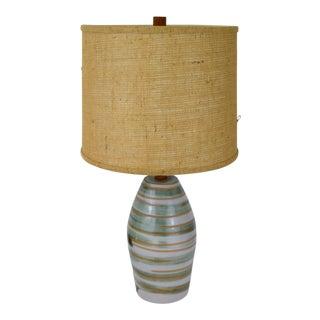 Gordon Martz for Marshall Studios Swirled Glaze Lamp For Sale