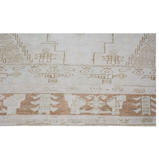 """Vintage Turkish Anatolian Oushak Hand Knotted Organic Wool Fine Weave Rug,4'6""""x8'3"""" For Sale - Image 4 of 6"""